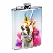 Unicorn Dog Em1 Flask 8oz Stainless Steel Hip Drinking Whiskey
