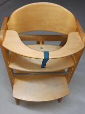 Holz Hochstuhl + für Kinder ab 6 Monaten bis 90 kg belastbar / verstellbar