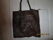 B. Makowsky Alexis Brown Glove Leather Bag purse