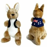 JUMBACK KANGAROO WITH JACKET SOFT ANIMAL PLUSH TOY 23cm **NEW**