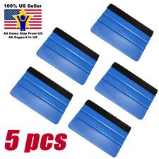 5 PCS Plastic Felt Edge Squeegee Car Vinyl Wrap Application Tool Scraper Decal
