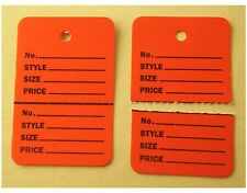 1000 Red Hang Price Label Tags Clothing Tagging Tags Gun Two parts
