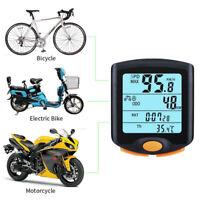 LCD impermeable Podómetro velocímetro computadora para bicicleta inalámbrica Nue