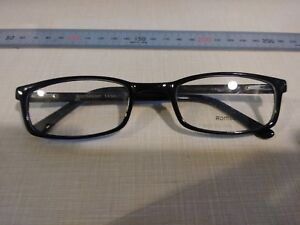 ROCHESTER R-5A CELLULOSE ACETATE BLACK FRAMES SIZE 54 / 24 / 145MM EYEGLASSES MD