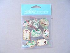 JOLEES BOUTIQUE MINI CHRISTMAS OVAL TAGS REPEATS SCRAP BOOK STICKERS
