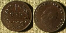 Sweden: 1870 1 Ore  Very CH.AU Red Brown Luster Couple Micro Dings  #705  IR4100