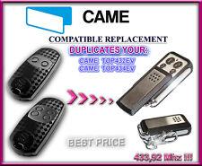 Came TOP432EV / TOP434EV compatibile radiocomando telecomando, Clone 433,92MHz