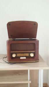 radio nostalgie retro holz mit cd