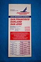 Piedmont Airlines - Quick Reference Schedule - Nov 15, 1987