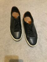 MSRP$198 Good Man Brand Legend Size 105 Low Top black Shoes Leather Sneakers