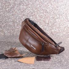 Men's Leather Wasit Fanny Pack Shoulder Bag Bum Bag Sports Chest Pack Satchel