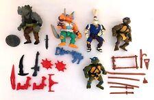Vintage 1980's Teenage Mutant Ninja Turtles Action Figure & Weapons Lot - NR