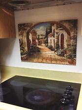 "Hangable Tile Mural  / Kitchen Backsplash / Kitchen Art / Tile Art (17""x25.5"")"