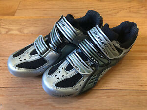Specialized Carbon Comp BG Road Shoes Womens Silver Black Bicycling EU 38 US 7.5