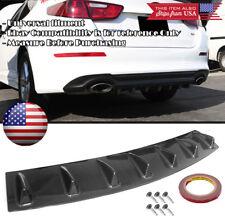 "33"" x 6"" Gloss Carbon Rear Bumper Valance Diffuser 7 Shark Fins For Hyundai Kia"