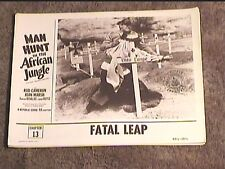 MAN HUNT IN THE AFRICAN JUNGLE 1954 LOBBY CARD #4