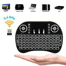 MINI i8 2.4G White Backlight Wireless Keyboard Touchpad Remote Control Air Mouse