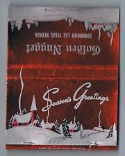 Golden Nugget Seasons Greetings Front Striker Vintage Matchbook Las Vegas Nevada