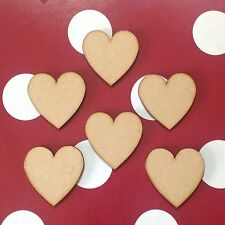 30 x Small wooden hearts 4cm blank craft shapes