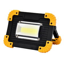 2018 COB LED Work Light USB Rechargeable Flood Lamp Power Bank Red Green Flash