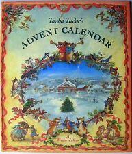 VG 1988 HC First Edition Tasha Tudor Advent Calendar Corgi Corgiville Nice Condn