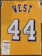 Jerry West Signed Custom Lakers Jersey (JSA Witnessed)