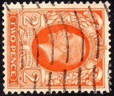 More details for 1935 sg 442b 2d orange (good perfs) sideways watermark very fine used