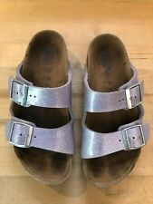 Girls' Light Purple Sparkly Birkenstock Sandals - Euro Size 34, Us Size 3