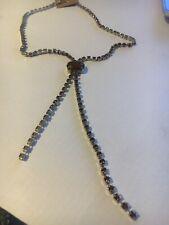 Rhinestone Necklace Vintage Diamante Cocktail Wedding Jewellery b