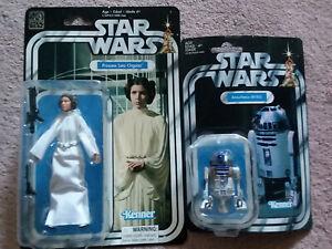 Star Wars 40th Anniversary R2-D2  Princess Leia  Retro Kenner NIP Figures LOT