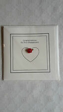 CONGRATULATIONS ON YOUR ENGAGEMENT CARD - QUALITY HANDMADE STYLE