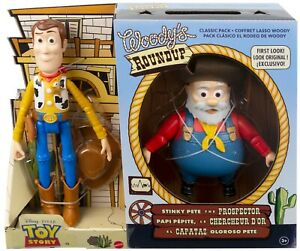 Woody's Roundup TOY STORY CLASSIC 2 PACK Woody Stinky Pete Figures FIRST LOOK!