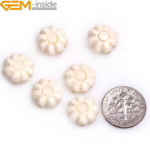 13mm Cabochon Handmade Carved Pattern Bone Beads For Jewelry Making 12pcs In lot