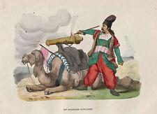 Iran Persien Militär Original Holzstich Berghaus 1845
