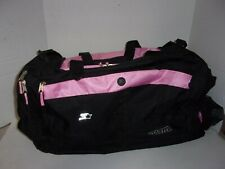"""Starter Pink Sports Duffle Gym Bag Padded Strap Compartments Zippered 20""""  (BA13"""