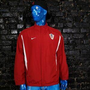 Croatia Hrvatska Team Training Jacket With Zipped Rad White Nike Mens Size XL