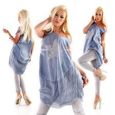 Ärmellose taillenlange Damenblusen, - tops & -shirts im Tuniken-Stil