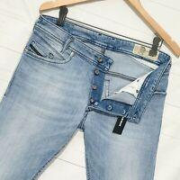⭐ mens Diesel Iakop regular Slim-Tapered light stretch denim jeans R8AL1 W31 L30