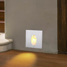 6x 1w Modern Square LED Recessed Step Stair Light Porch Pathway Wall Lamp Warm