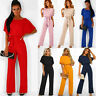 Fashion Womens Casual Wide Leg Jumpsuit Ladies Evening Party Long Playsuit Size