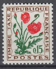 FRANCE TIMBRE TAXE NEUF N° 97 **  fleurs des champs coquelicot