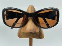 Vintage Valentino 5440/S Adada Brown Gold Oval Sunglasses Italy FRAMES ONLY
