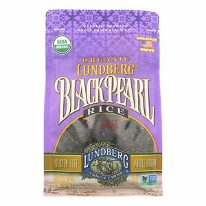 Lundberg Family Farms Organic Rice - Black Pearl - Case Of 6 - 1 Lb.