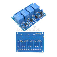 1/2/5/10PCS DC5V 4 Four Channel Relay Module Optocoupler For Arduino PIC ARM AVR