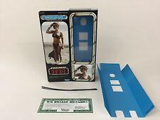 "Custom Vintage Star Wars Rotj 12"" Insertos + Caja De Princesa Leia Esclava ver1 Moderna"