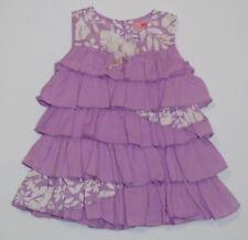 NWOT Beetlejuice Baby Beetle Tropical Leaf & Solid Tiered Ruffled Dress, 12 mos.