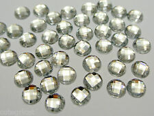 CLEAR Globe Cut 8mm Rhinestones - Brilliant Shine - Lot of 50