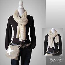 Winter Schal * Winterschal Strickschal Loopschal Knit Scarf mit Pailletten DE 6