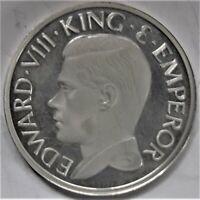 EDWARD VIII Silver Proof crown (Possible Lobel Mule?)issue by ICB (GB Reverse).