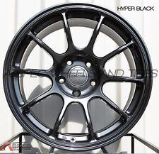 17X9 ROTA SS10 HYPER BLACK WHEELS 5X114.3 RIMS +25MM FITS EVO 8 9 RSX TL TSX RX8